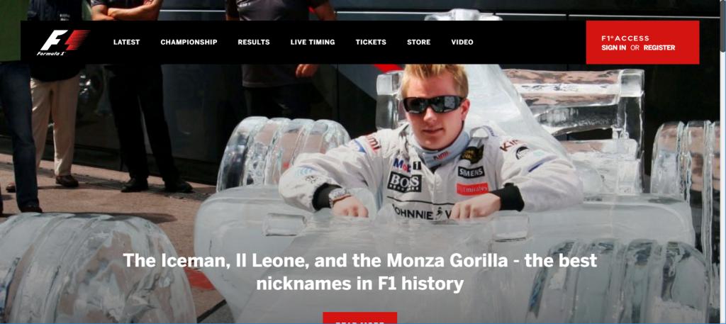Formula 1 site