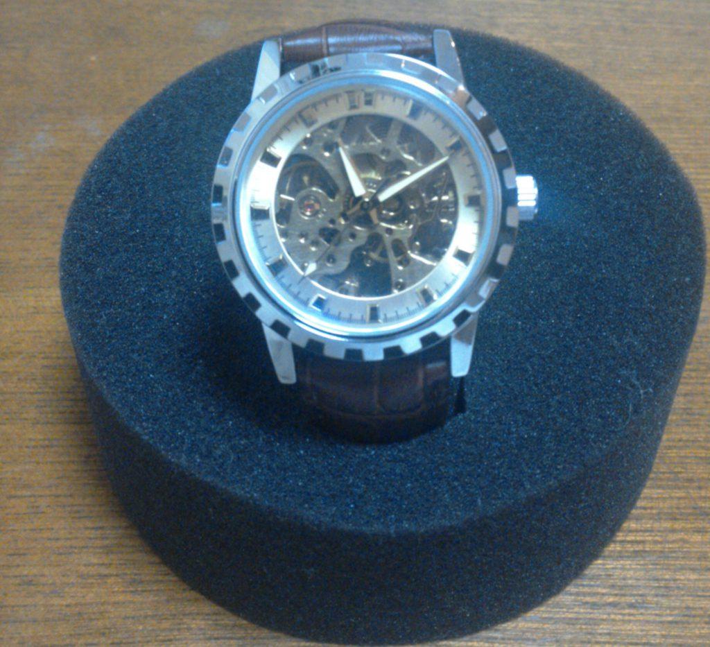 E-seven 腕時計 手巻き機械式 スケルトン